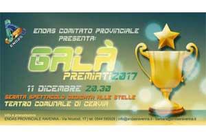 """Endas Comitato Provinciale di Ravenna presenta """"Galà premiati 2017″"""